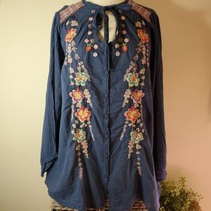 NWT Johnny Was Alaura embroidered blouse sz M